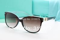 Free Shipping Luxury acetate sunglasses women brand designer Gradient lens TF4064B