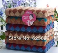 Free Shopping 100% cotton printed cotton plaid ribbons male gentleman towel 78*34CM 3pcs/lot