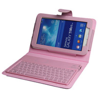 For Samsung Galaxy Tab 3 Lite T110 T111 7.0 Inch Silicon Wireless Bluetooth Keyboard Case Cover