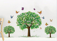 Three cherry trees removable wall stickers living room AY894
