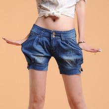 Além disso, calças jeans shorts tamanho mulheres shorts jeans soltos frete grátis C714(China (Mainland))