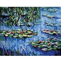 Digital oil painting 40 50 digital painting diy spatterdock digital oil painting hand painting