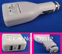 5 pcs/lot Dual 2 Port USB 12v Car Charger Adapter for MP3/4