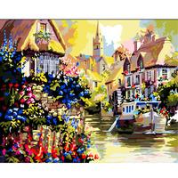 Digital oil painting 40 50 digital painting viewseaborne diy digital oil painting of flower hand painting