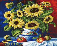 Digital oil painting 40 50 digital painting diy sunflower vase digital oil painting hand painting