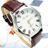 2014 new quartz watch   Roman numerals watch   Import movement waterproof watch   Belt Men watch