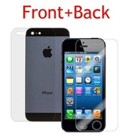 10pcs/lot = 5 x Front + 5 x Back + Cloth Screen Protector guard Film For Apple Iphone 5/5S/5C with opp bags