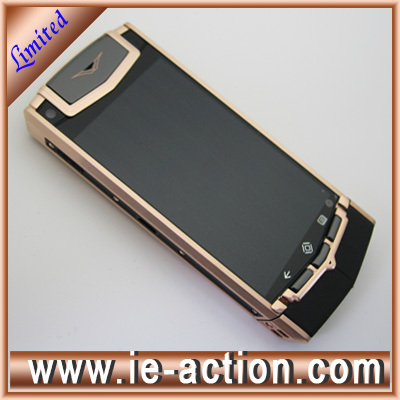High quality ti touch android luxury gold mobile phone(China (Mainland))