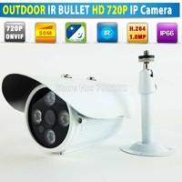 HIWVISION Video Security Array IR Bullet Mini IP Camera H.264 ONVIF outdoor 720P CCTV CAMERA Water-proof + Free CCTV Bracket