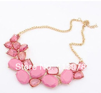 HS-043# Ship Free if more than $9 (Mix Order),, Bohemia Style, Fashion Vintage Color Crystal Collar neckalce collar .