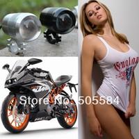 Universal 12V-60V CREE 30W Street bike Motorcycle Motorbike Off-road driving Head Auxiliary Rear Frame Strobe Flash light Lamp