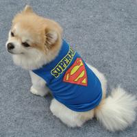 Pet Dog Vest Clothes XS S M L T-shirt Cat Puppy Superman Crown Shirt Dog Apparel Free&Drop Shipping