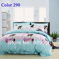 2014 luxury bedding set cartoon  king queen full size  bedclothes Duvet Cover Bed sheet Pillowcase bed linen home texile