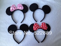 Children's party supplies, girl Hard hair bands for Mickey mouse birthday party,mickey mouse headband for birthday