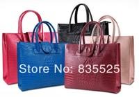 Fashion women's handbag crocodile pattern handbag women's handbag 2014 trend shoulder bag genuine leather handbag women's