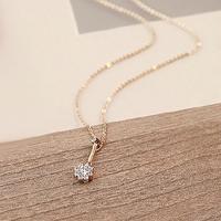 Fall in love accessories luxury full rhinestone flower bud chain female short design pendant accessories