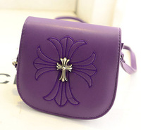 New 2014 cross shoulder bag messenger bag sweet gentlewomen embroidered mini candy color small bag