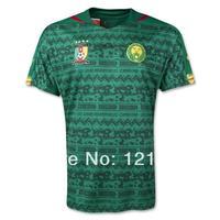 A+++ thailand Men 2014 New Cameroon Home away  Outdoor Soccer Jersey Brazil 14 15 Soccer Futboll Jersey