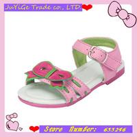 2014 In stock Summer 1pair white PU girl Children Sandals inner length Super Quality Kids/Children Shoes