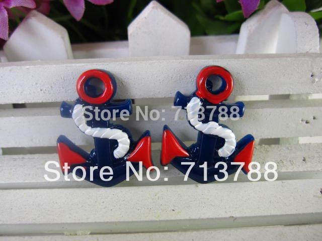 flat back resin Anchors for phone decoration 30pcs/lot(China (Mainland))