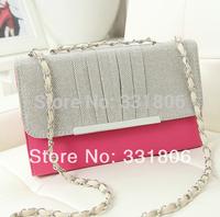 2014 New Hot women handbag chain bag women messenger bag evening bag women clutch Quilted on shoulder bag fashion
