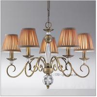 American wrought iron fabric pendant light nordic brief vintage lighting art pendant light