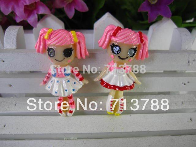 flat back resin Girl for phone decoration 20pcs/lot(China (Mainland))