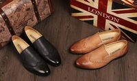 Wholesale Promotion 2014 new men's noble leisure genuine leather England business shoes,special offer.free shipping,NT050