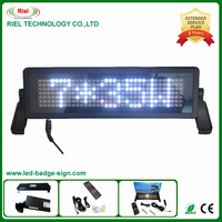 LED Moving Message Sign LED Car Display English Remote Control/Programmable Russian Pixel 7*35 White 1piece/lot Free Shipping