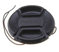 2 Pcs 67 mm Front Lens Cap Center Pinch Snap-On with Cord for All 67 mm Camera Lens