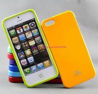 Free Shipping Korea Original Mercury GOOSPERY JELLY CASE TPU Case for iphone 5 5s Soft TPU case retail package