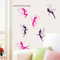 Free Shipping ( 2 pcs / lot ) High quality! The lively little spirit Stick Wall Decal DIY the barthroom  and home