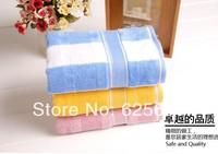 Free Shopping 100% cotton towel color stripes couple models 80*38CM 2pcs/lot
