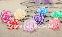 High quality handmade DIY polymer clay flowers for girls hairband.Free shipping 50pcs/lot 20MM handmade fimo flower beads.