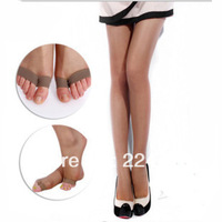 Min order US$9.9(mix order)4 colors in 15D Thin velvet pants toe socks pantyhose summer open-toed socks with pants stockings