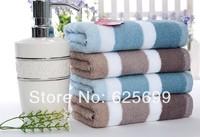 Free Shopping 100% cotton simple striped towel Super absorbent 62*31CM 2pcs/lot