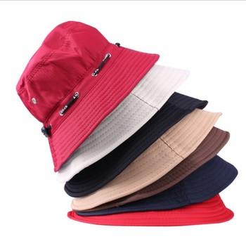 2014 новый 100% хлопок шляпа солнца Sunbonnet рыбалка шляпы женщины весной и осенью ...