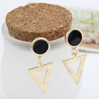 Fashion fashion stud earring metal oil elegant triangle stud earring earrings brief