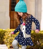 2014 HOT SALE Girls Dresses Tshirts Polka Dot Deer Girl's Tees Shirts Jumper Flower Long Sleeve Blouses-X477A