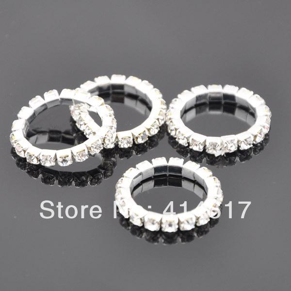 10 pcs Clear Color Crystal Elastic Rhinestone Toe Ring Lady Girl Fashion Jewelry