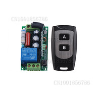 AC220V 1CH 10A Remote Control Switch Relay Output Radio Receiver Module and Waterproof Transmitter Free Shipping