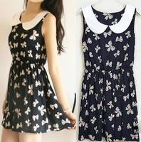 2014 new fashion Summer casual cotton dress for women, women's pattern dresses 14 style flower