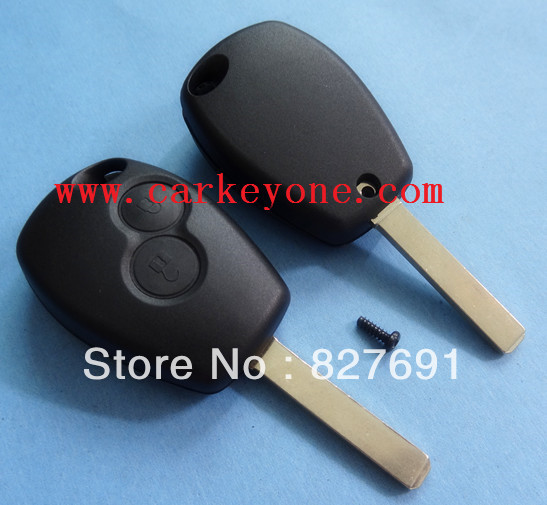 High quality Renault 2 button remote key shell VA6 blade, without logo Free shipping wholesale and retail()