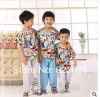 Free shipping wholesale 2014 new boys pajamas,6sets/lot   100% cotton