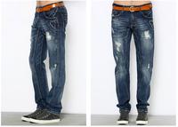 2014 Summer new men's jeans men's jeans, men's frayed cats should be branded wholesale OL-53010