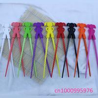 Wholesale 10 pcs children learning chopsticks High quality plastic toy infant chopsticks Free shipping