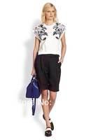 2014 new woman printed short-sleeved cotton carp