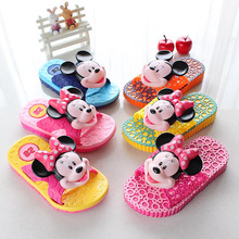 2014 Mickey Mouse cartoon stereo Three-dimensional  children boys girls  summer antiskid slippers wholesale free shipping(China (Mainland))