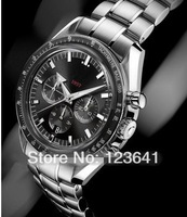 New 2014 Men's Luxury fashion brand Automatic self wind Stainless Steel watch Speed style wrist watches