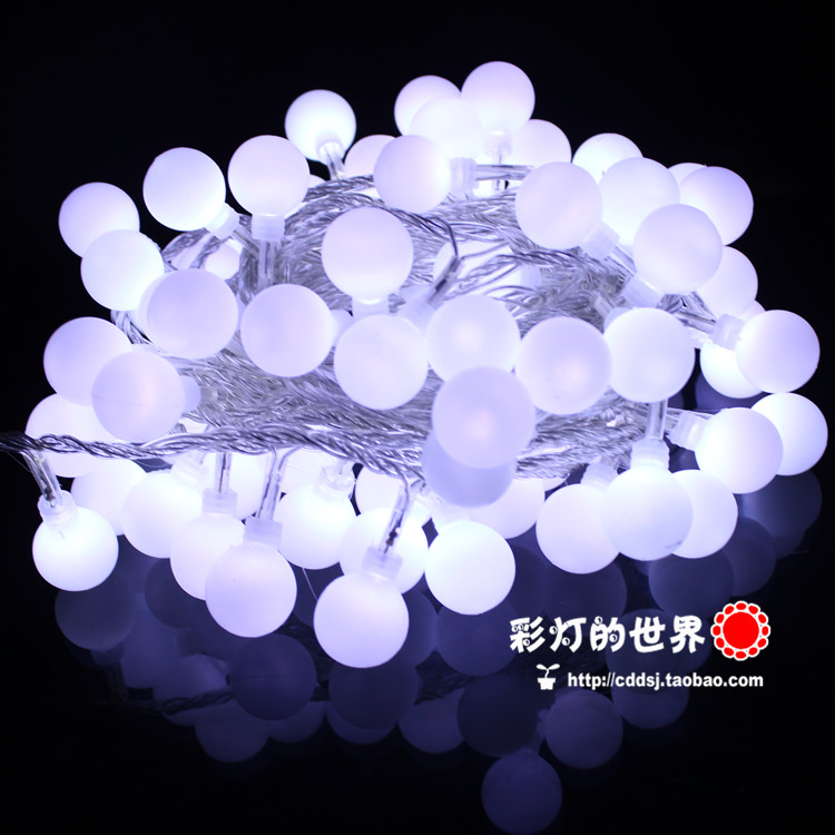 Free shipping Led lights string light flasher outdoor waterproof ktv engineering lamp ball cherry lamp(China (Mainland))